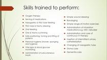 Caregiverasia skills